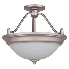 Craftmade Lighting Pro Builder Brushed Polished Nickel Semi-Flushmount Light