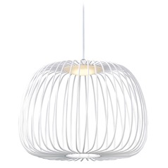 ET2 Cage White LED Pendant Light with Bowl / Dome Shade