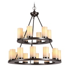 Sea Gull Lighting Ellington Burnt Sienna LED Chandelier