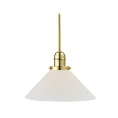 Hudson Valley Lighting Mini-Pendant Light with White Glass 3101-PB-M9