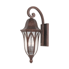 Frosted Seeded Glass Outdoor Wall Light Copper Designers Fountain Lighting