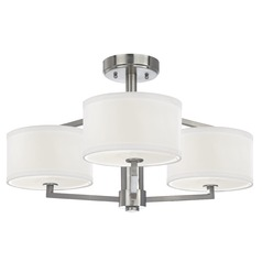 Semi-Flush Ceiling Light with Drum Shades