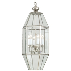 Pewter Cage Chandelier with Six Lights