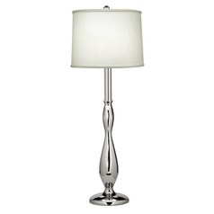Stiffel Buffet Table Lamp with White Drum Shade