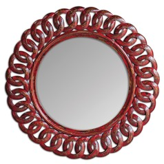 Uttermost Sassia Red Round Mirror