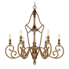 Designers Fountain Isla Aged Brass Chandelier