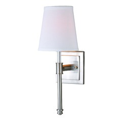 Ritz Satin Nickel Sconce by Vaxcel Lighting