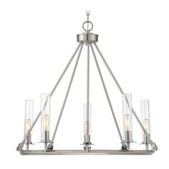 Brushed Pewter Chandelier Hasting Collection by Savoy House