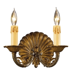 Sconce Wall Light in Antique Bronze Patina Finish