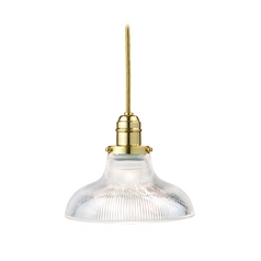 Hudson Valley Lighting Mini-Pendant Light with Clear Glass 3101-PB-R08