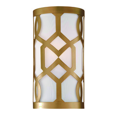Crystorama Lighting Jennings Aged Brass Sconce