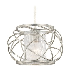 Capital Lighting Riviera Antique Silver Pendant Light with Cylindrical Shade