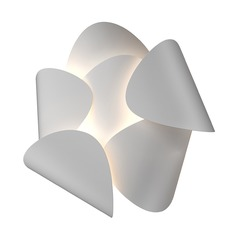 Sonneman a Way of Light Lotus Satin White LED Sconce