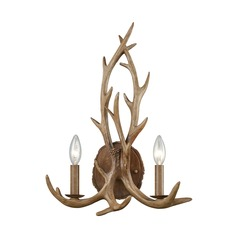 Elk Lighting Elk Wood Brown Sconce