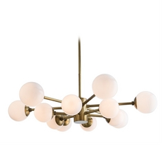 Arteriors Home Lighting Karrington Antique Brass Chandelier