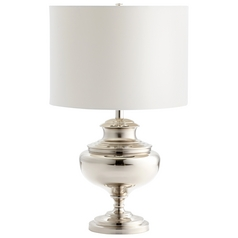 Cyan Design Encore Nickel Table Lamp with Drum Shade