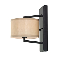 Bronze Sconce with Drum Shade