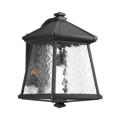 Progress Outdoor Wall Light with Clear Glass in Black Finish