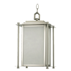 Quorum Lighting Shoreham Satin Nickel Outdoor Hanging Light