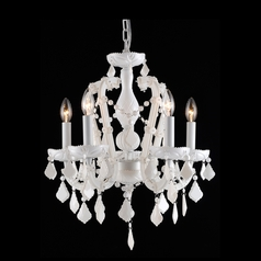 Avenue Lighting Casablanca Way White Crystal Chandelier