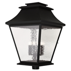 Livex Lighting Hathaway Black Post Light