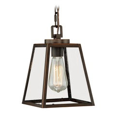 Mini Pendant Burnished Bronze Mini-Pendant Light with Square Shade by Vaxcel Lighting