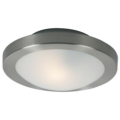 ET2 Lighting Modern Sconce Wall Light with White Glass in Satin Nickel Finish E20531-09