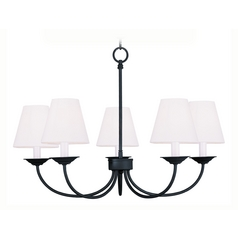 Livex Lighting Mendham Black Chandelier