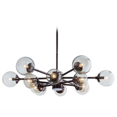 Arteriors Home Lighting Karrington Brown Nickel Chandelier