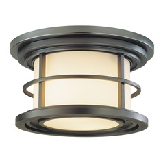 Feiss Lighting Lighthouse Burnished Bronze LED Close To Ceiling Light