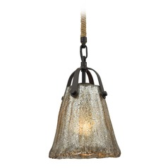 Elk Lighting Hand Formed Glass Oil Rubbed Bronze Mini-Pendant Light with Empire Shade