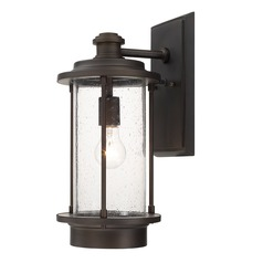 Seeded Glass Outdoor Wall Light Bronze Capital Lighting