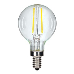 Carbon Filament LED G16.5 Candelabra Light Bulb 13-Watt Equivalent by Satco