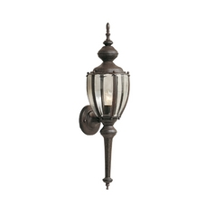 Outdoor Wall Light with Clear Glass in Rust Patina Finish