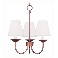 Livex Lighting Mendham Vintage Bronze Mini-Chandelier