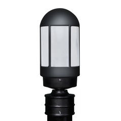 Frosted Glass Post Light Black Costaluz by Besa Lighting