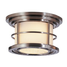 Feiss Lighting Lighthouse Brushed Steel LED Close To Ceiling Light