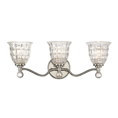 Savoy House Lighting Birone Polished Nickel Bathroom Light