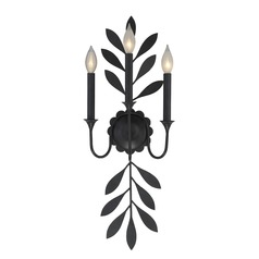 Savoy House Lighting Trumpet Aged Iron Sconce