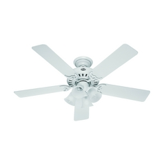 Hunter Fan Company Studio Series White Ceiling Fan with Light