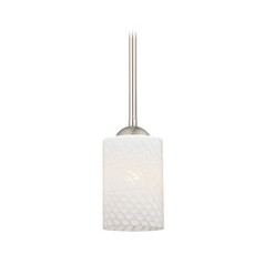 Mini-Pendant Light with Cylinder Art Glass Shade