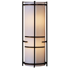 Modern Sconce Wall Light with Beige / Cream Glass in Bronze Finish