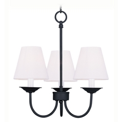 Livex Lighting Mendham Black Mini-Chandelier