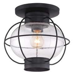 Quoizel Cooper Mystic Black Close To Ceiling Light