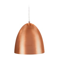 Access Lighting Essence Brushed Copper Pendant Light with Bowl / Dome Shade