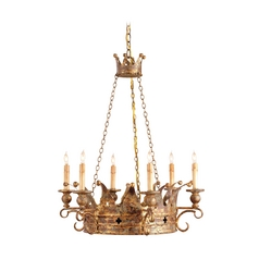 Chandelier in Viridian Gold Finish