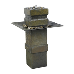 Fountain in Natural Slate Finish