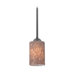 Design Classics Lighting Modern Mini-Pendant Light with Brown Art Glass 581-07  GL1016C