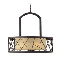 Fredrick Ramond Nest Oil Rubbed Bronze Pendant Light with Drum Shade