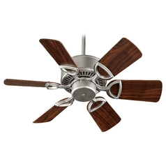 Quorum Lighting Estate Satin Nickel Ceiling Fan Without Light